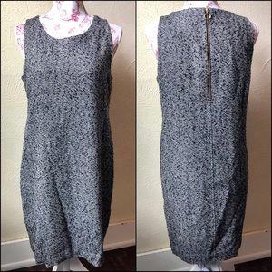 J. Crew Factory Sleeveless Sheath Dress 6 Black
